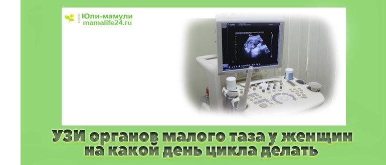 УЗИ органов малого таза у женщин на какой день цикла делать